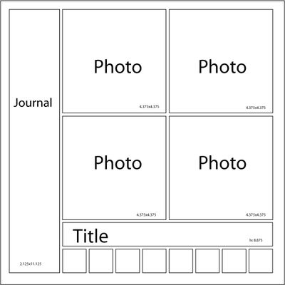 mosaic moments scrapbook layout idea - four squres