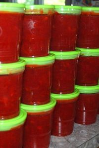 Strawberries - freezer jam