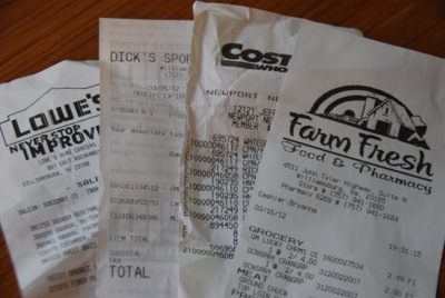 2012 receipts