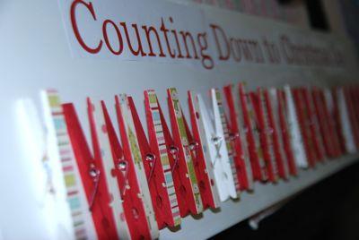 Countdown board in progress