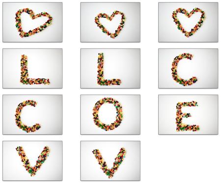 Jellybean letters