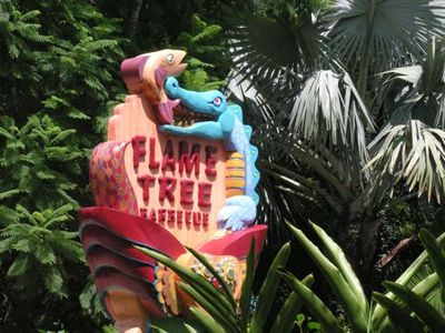 Sign flame tree barbq-tami potter