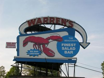 Sign Warrens lobster - Tami Potter
